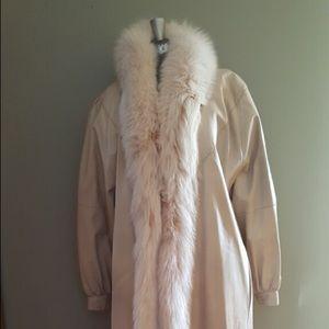 Jackets & Blazers - Women's long fox faux fur full length coat